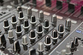 Sound and voice controlling equipment — Stock Photo