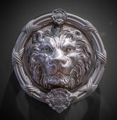 Metal lion head — Stock Photo