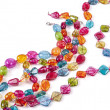 Stock Photo: Color glass beads
