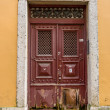 Antique door — Stockfoto