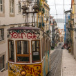 Stock Photo: Short and quick trams in Lisbon, Portugal.