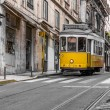 Short and quick trams in Lisbon, Portugal. — Stock Photo #32116547