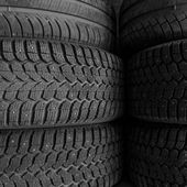 Tire stack background — Stock Photo