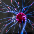 Plasma ball  with magenta-blue — Foto Stock