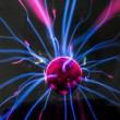 Plasma ball  with magenta-blue — Stock Photo