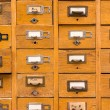 Stock Photo: Old wooden card catalog