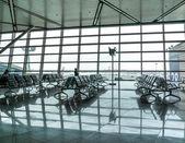 Contemporary hallway of airport — Stock Photo