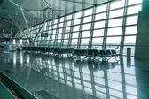 Contemporary hallway of airport — Stock Photo