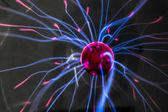 Plasma ball with magenta-blue — Stock Photo