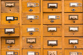Old wooden card catalog — Stock Photo