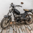 The old, rusty motorcycle — Foto Stock