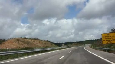 PORTUGAL - MARCH 27: Vehicle point-of-view driving on Portugal. Timelapse. March 27, 2013 — Stock video
