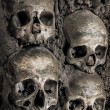 Wall full of skulls and bones — Stock Photo #34971385