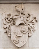 Heraldic shield stone — Stock Photo