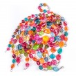 Color glass beads — Stock Photo