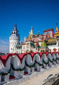 Beautiful Kremlin in Izmaylovo in the spring, Moscow, Russia — Stock Photo