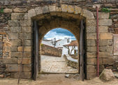Narrow arc of old town — Stock Photo