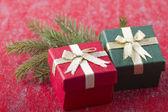 Twee geschenkdozen — Stockfoto
