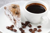 Cake and cup of coffee — Stock Photo