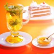 Stock Photo: Tea with mint and lemon
