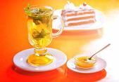 Té con menta y limón — Foto de Stock
