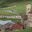 Постер, плакат: Towers in Ushguli Upper Svaneti Georgia