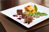 Filet mignon with potato — Stock Photo
