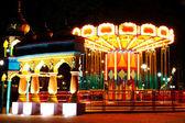 Carousel at amusement park — Stock Photo