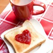 Toast with jam — Stock Photo #18844135