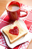 Toast with jam — Stock Photo