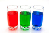 Colorful liquids — Stock Photo