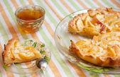 Homemade peach pie — Stock Photo