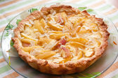 Homemade peach pie — Stock Photo