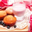 Stock Photo: Blueberry muffins