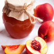 nectarine jam — Stock Photo