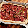 Homemade fig pie — Stock Photo