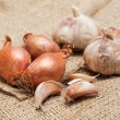 Garlic and onion close up — Stock Photo #37520521