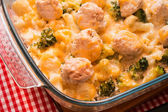Baked broccoli and cauliflower with cheese — Stock Photo