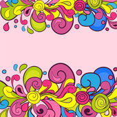 Bright curl pattern — Stock vektor