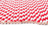 Red paper straws — Stock Photo