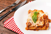 Tasty lasagna — Stock Photo