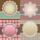Set of four vintage vector cards — Stock Vector