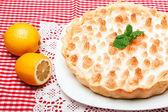 Homemade lemon pie — Stock Photo