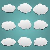 Vector clouds set — Stock Vector