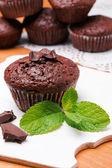 Chocolate muffin close-up — Stock Photo