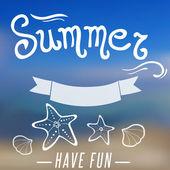 Summer background — Stock Vector