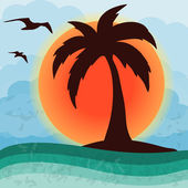Palm tree vector illustration — Stock Vector