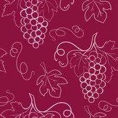 Patrones sin fisuras con uvas — Vector de stock