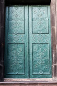 Door in an old cathedral — Stok fotoğraf