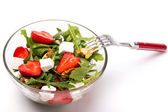 Healthy salad on white background — Stock Photo